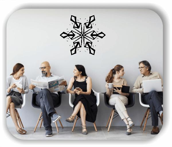 Wandtattoo - Snowflakes - ab 50x43 cm - Motiv 2576