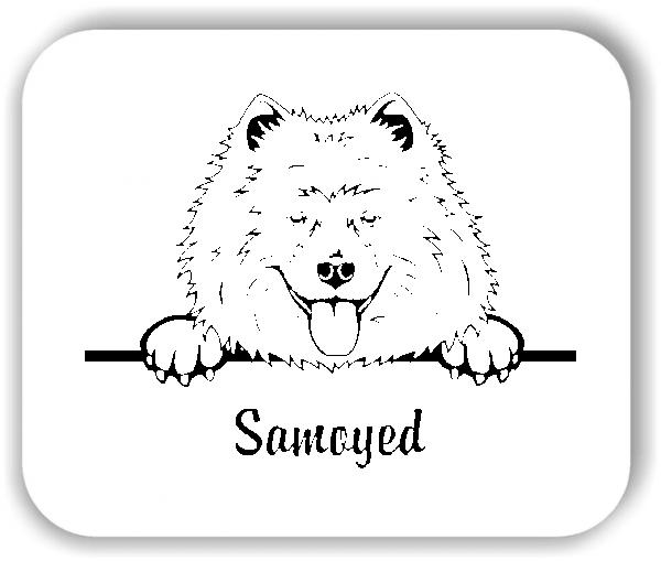 Wandtattoo - Hunde - Samoyed (Samojede)