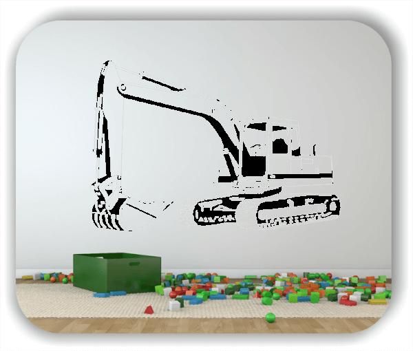 Wandtattoo - ab 50x34 cm - Bagger