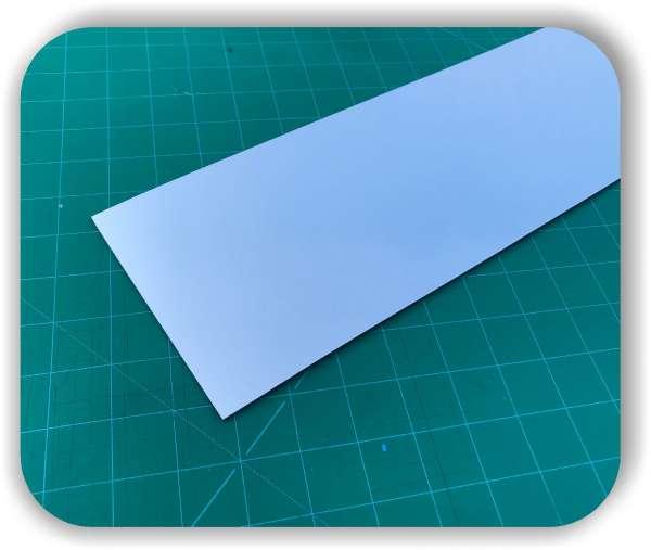 Polystyrolplatte mit Spiegel - Größe individuell