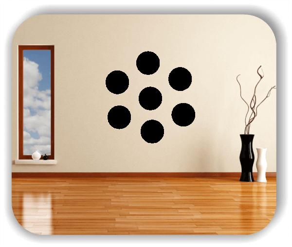 Folien Punkte - Selbstklebend - 6 Punkte a 9 cm