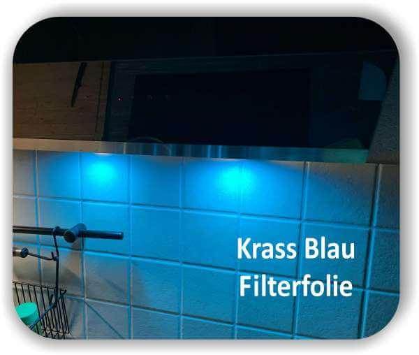Zuschnitt Krass Blau - LED Filterfolie - LED Tönungsfolie