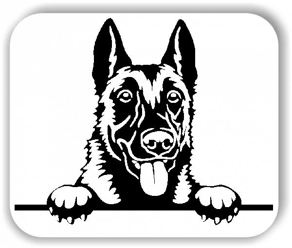 Wandtattoo - Hunde - Malinois 1 - ohne Rassename