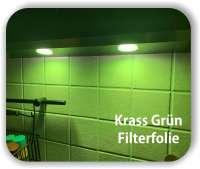 Zuschnitt Krass Grün- LED Filterfolie - Farbfilterfolie