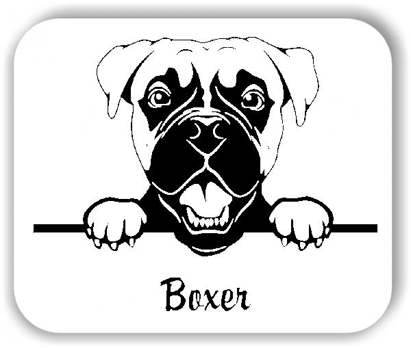 Wandtattoo - Hunde - Boxer Variante 2