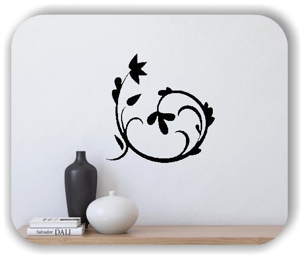 Wandtattoo - Florale Blumen & Blätter - Motiv 2842
