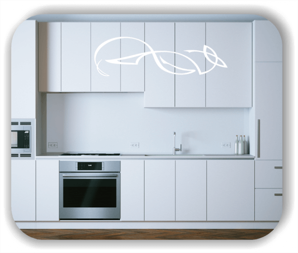 Wandtattoo - Schnörkel Design - ab 60 x 18 cm - Motiv 01