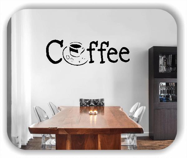Wandtattoo - Coffee - mit Tasse