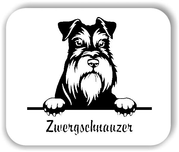 Wandtattoo - Hunde - Zwergschnauzer
