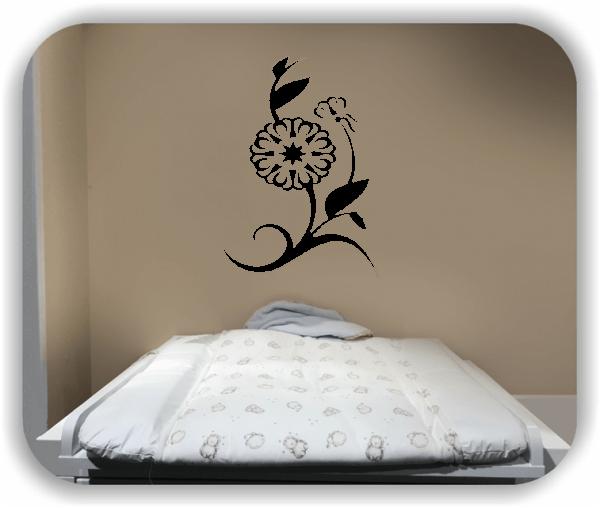 Wandtattoo - Florale Blumen & Blätter - Motiv 2869