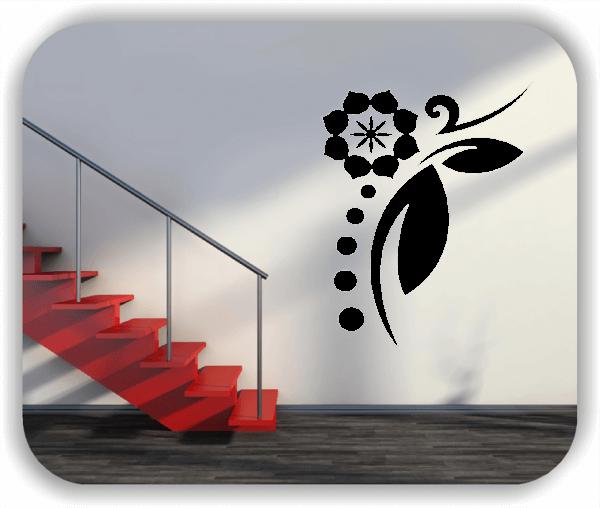 Wandtattoo - Florale Blumen & Blätter - Motiv 52