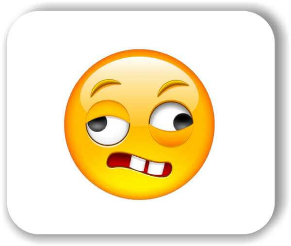 Strichgesicht - Verzogenes Gesicht