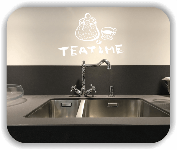 Wandtattoo - Teatime - mit Kanne und Tasse