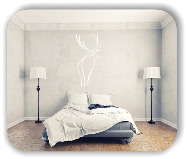 Wandtattoo - Tier Silhouette - ab 50x105 cm - Hirsch