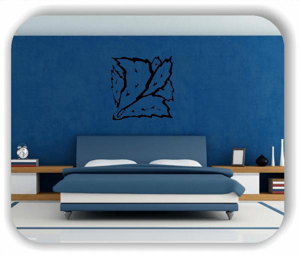 Wandtattoo - Quadratisch Florale Silhouetten - Motiv 28