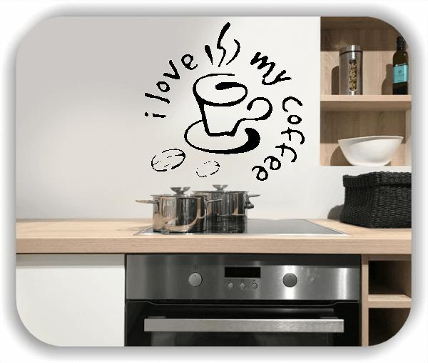 Wandtattoo - i love my coffee