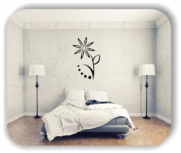 Wandtattoo - Florale Blumen & Blätter - Motiv 68