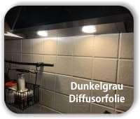 Zuschnitt Diffusorfolie Dunkelgrau - LED Filterfolie - Warmlicht