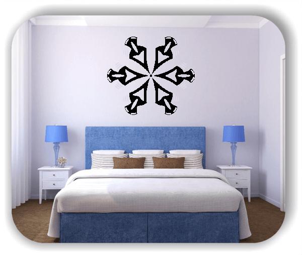 Wandtattoo - Snowflakes - ab 50x43 cm - Motiv 2535