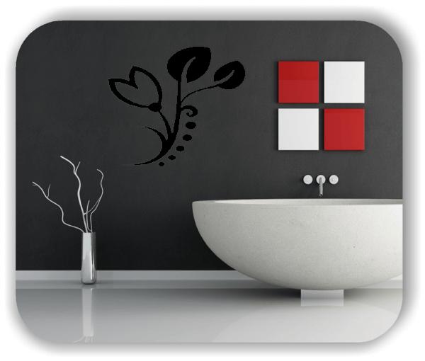 Wandtattoo - Florale Blumen & Blätter - Motiv 21