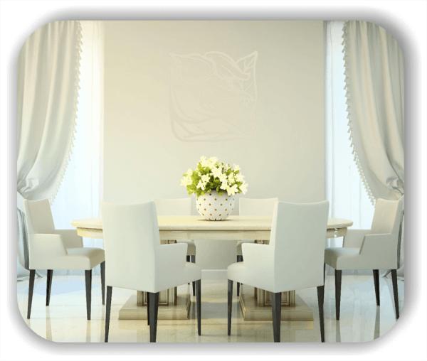Wandtattoo - Quadratisch Florale Silhouetten - Motiv 48