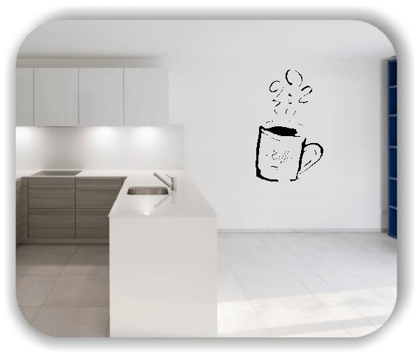Wandtattoo - Dampfender Kaffeebecher