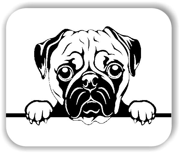 Wandtattoo - Hunde - Mops 1 - ohne Rassename