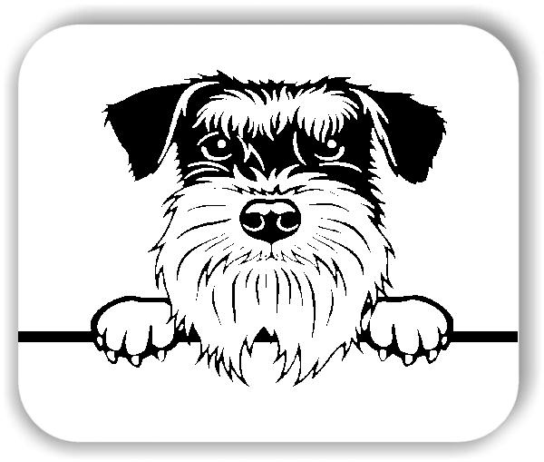 Wandtattoo - Hunde - Schnauzer - ohne Rassename