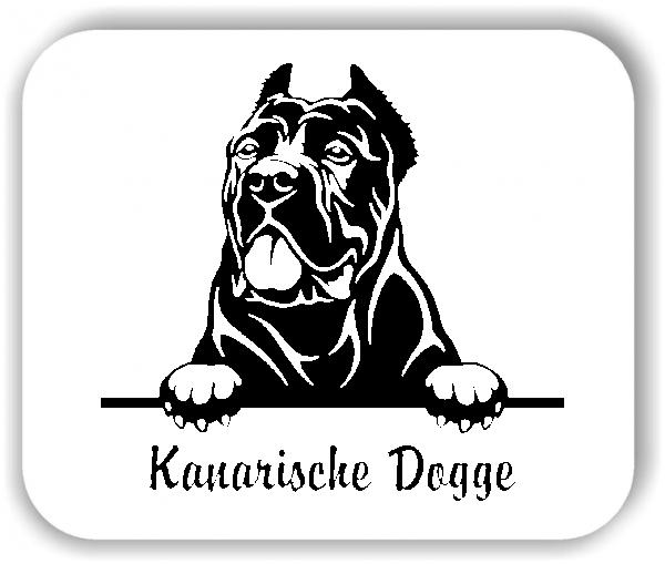 Wandtattoo - Hunde - Kanarische Dogge Variante 2