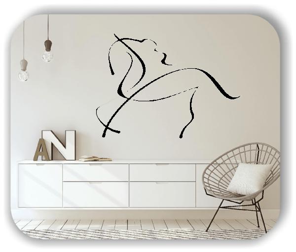 Wandtattoo - Tier Silhouette - ab 50x36 cm - Einhorn