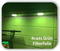 Zuschnitt Krass Grün- LED Filterfolie - Warmlicht