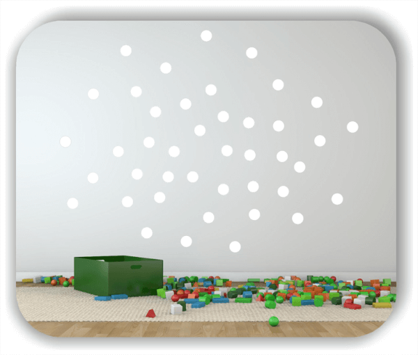Folien Punkte - Selbstklebend - 408 Punkte a 1 cm
