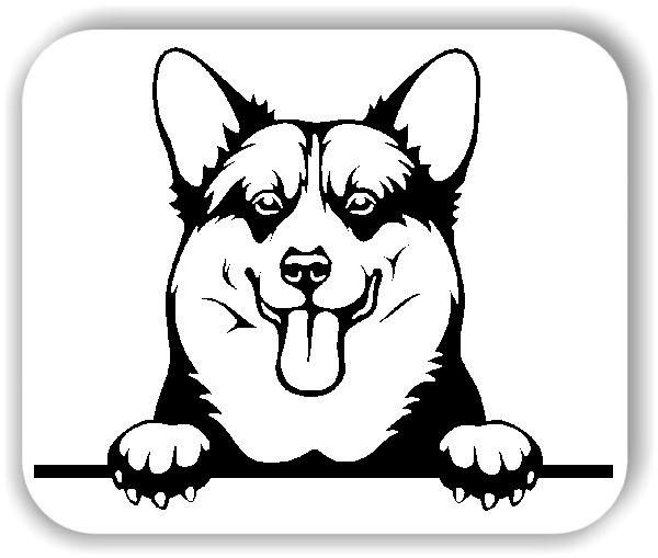 Wandtattoo - Hunde - Welsh Corgi Pembroke - ohne Rassename