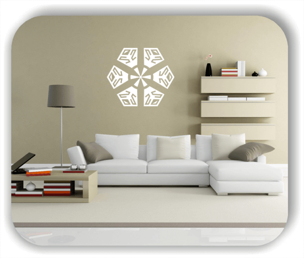 Wandtattoo - Snowflakes - ab 50x43 cm - Motiv 2570