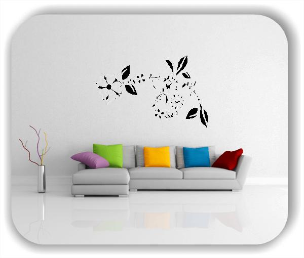 Wandtattoo - Florale Blumen & Pflanzen - ab 50x32,5 cm - Motiv 3028