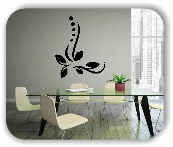 Wandtattoo - Florale Blumen & Blätter - Motiv 50