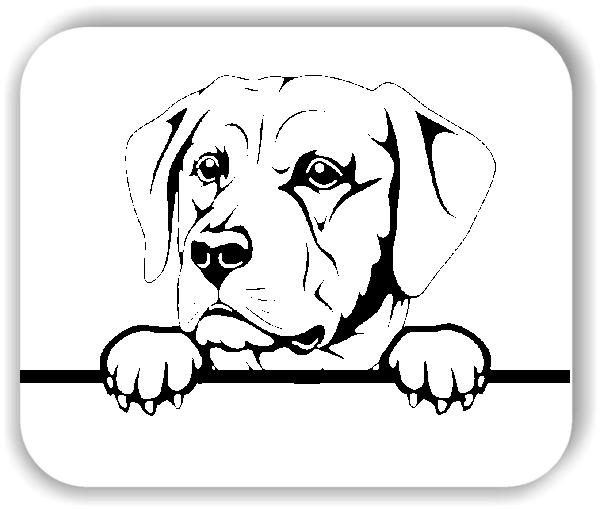 Wandtattoo - Hunde - Labrador Retriever Variante 4 - ohne Rassename
