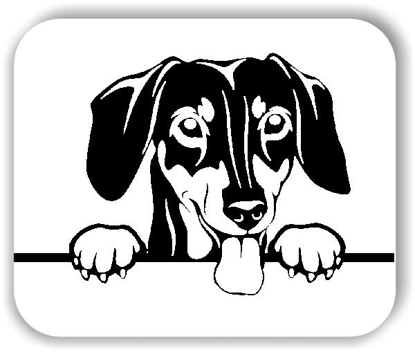 Wandtattoo - Hunde - Dackel Variante 4 - ohne Rassename