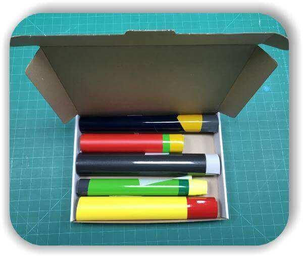 Folien Reste - 1 qm - Diverse Farben - Selbstklebefolien