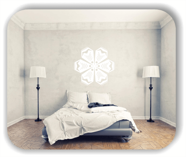 Wandtattoo - Snowflakes - ab 50x48 cm - Motiv 2508