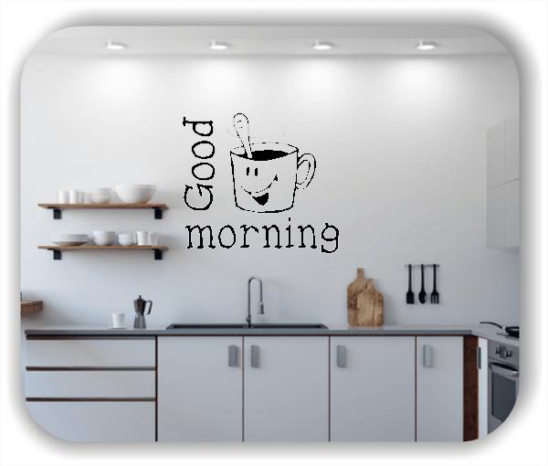 Wandtattoo - Freche Tasse mit Good Morning