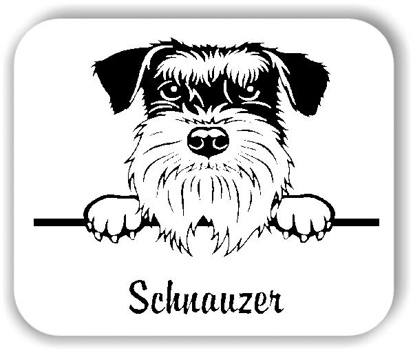 Wandtattoo - Hunde - Schnauzer