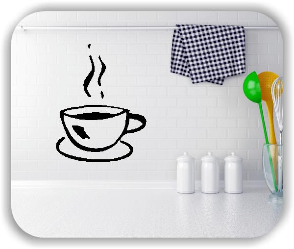 Wandtattoo - Kaffeetasse