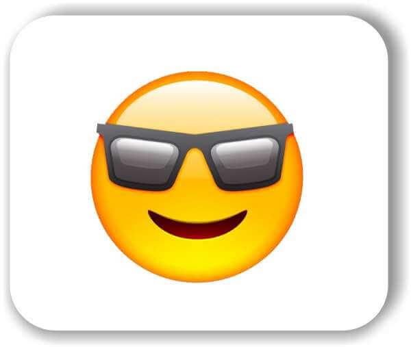 Strichgesicht - Cooles Gesicht mit Sonnenbrille