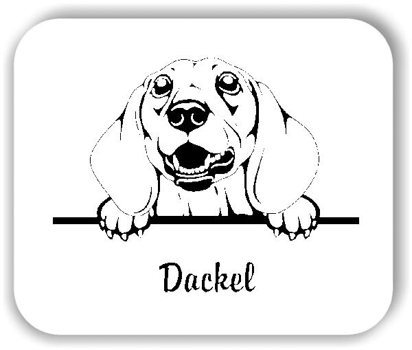 Wandtattoo - Hunde - Dackel Variante 1