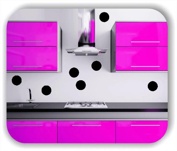 Folien Punkte - Selbstklebend - 5 Punkte a 10 cm
