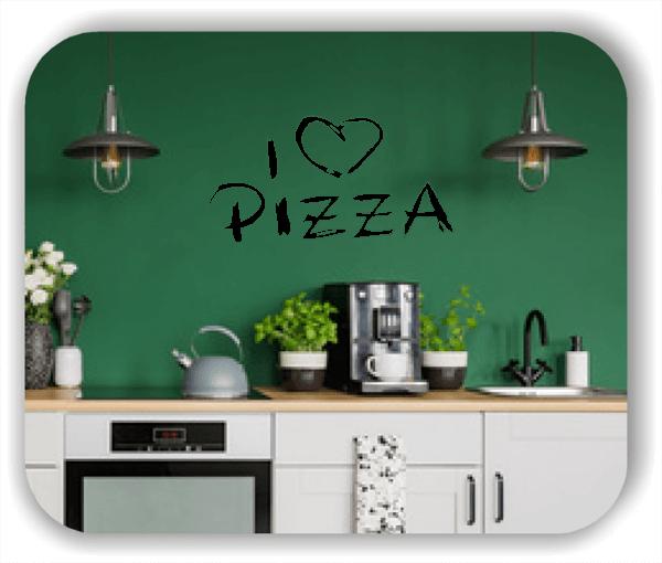 Wandtattoo - I love Pizza