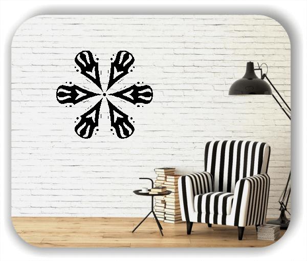 Wandtattoo - Snowflakes - ab 50x47 cm - Motiv 2527