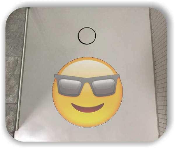 Anti-Rutsch Folie mit Digitaldruck - Strichgesicht - Cooles Gesicht mit Sonnenbrille