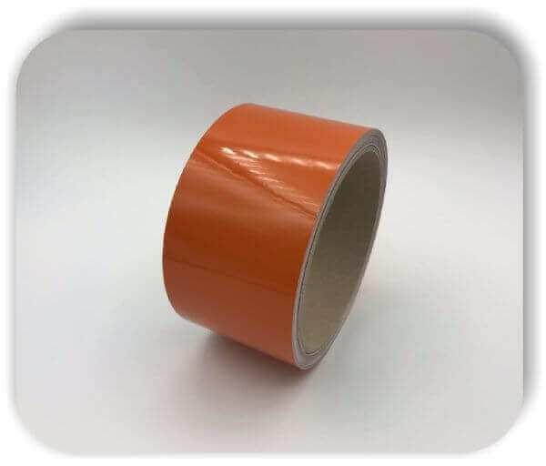 Boots Zierstreifen Reflektierend 120mm Orange Glanz Dekorstreifen